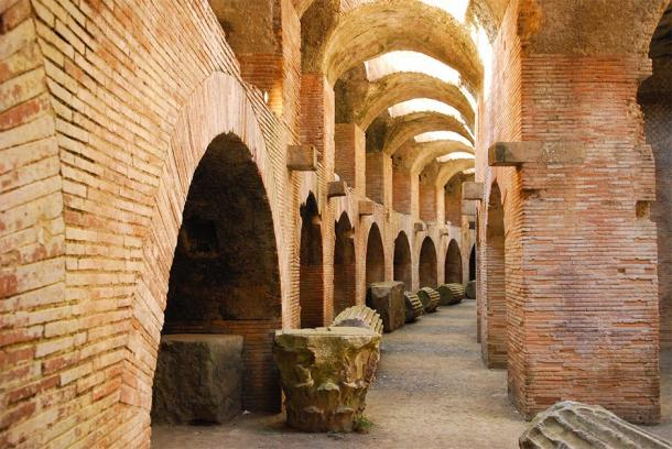 The well-preserved passages beneath the Flavian Amphitheater (Karin Witschi / Adobe Stock)