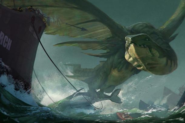 Did the discovery of whale carcasses lead to legends of dragons?