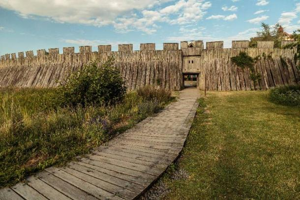 A large, wooden Viking fort probably once stood in this area