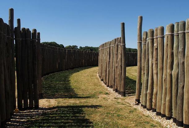 Reconstrucción de los anillos de madera en Goseck