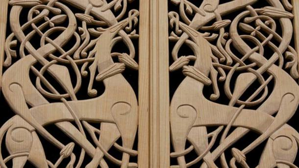 Viking patterned woodwork.