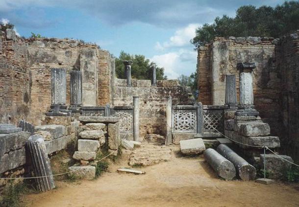 The supposed workshop site of Phidias at Olympia
