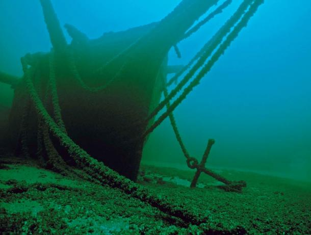 The wreck of the Thomas Hume, which sets remarkably intact at the bottom of Lake Michigan