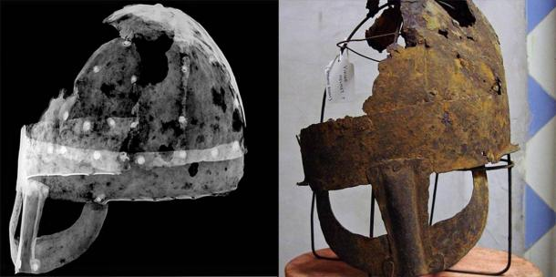 The Yarm helmet has been on permanent display at Preston Park Museum since 2012. Researchers from Durham University conducted radiographs of the Anglo-Scandinavian helmet to study the properties of the metal and compared the find to other archaeological discoveries. (Durham University)
