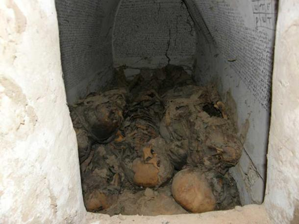 Inside the 900-year old crypt found in Sudan in 2013.