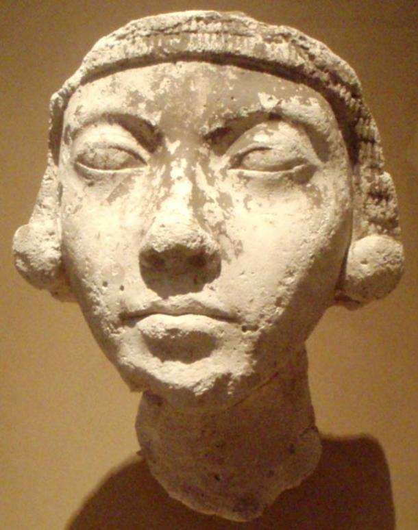Plaster face of a young Amarna-era woman, (thought by many to represent Kiya, one of Akhenaten's wives).