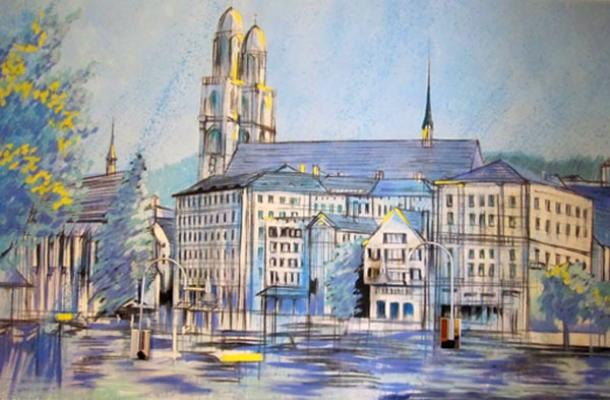 Old Painting of Zurich