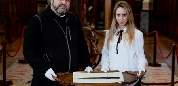 An ancient Anatolian sword discovered in the cabinet of the Mekhitarist Monastery. Source: Ca' Foscari University of Venice.