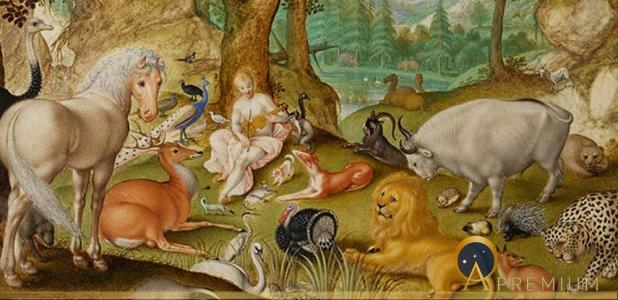 Orpheus Charming the Animals by Jacob Hoefnagel (1613)
