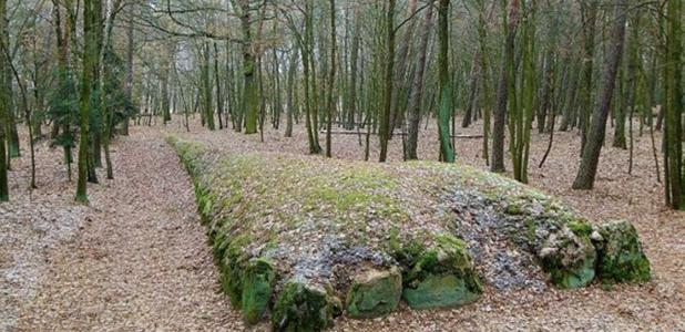 Reconstructed megalithic tombs in Wietrzychowice (50 km to the East of Góry).