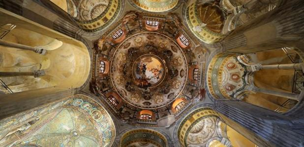 Cupula of the basilica San Vitale in Ravenna, Italy.
