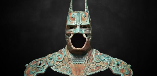Camazotz Maya style Batman suit created by Mexican designer Kimbal