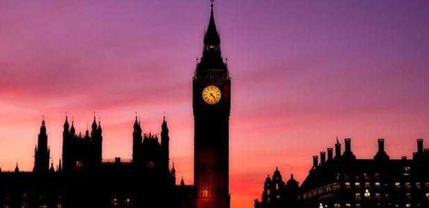 The Elizabeth Tower houses Big Ben.
