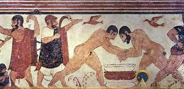 Tomb of the augurs. Tarquinia, Italia. (circa 530 BC) (Public Domain)