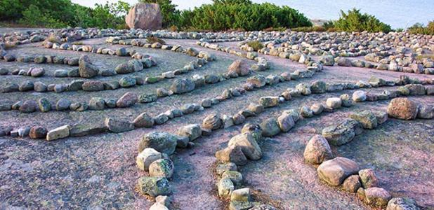 The Blå Jungfrun labyrinth.