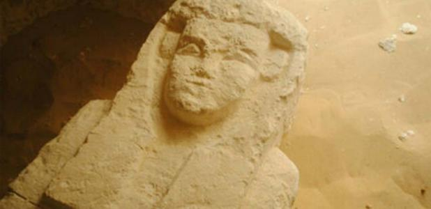 One of the newly discovered sarcophagi
