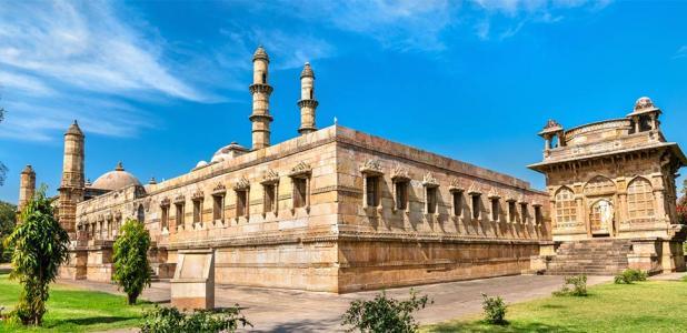 Jami Masjid, a major tourist attraction at Champaner-Pavagadh Archaeological Park - Gujarat, India              Source: Leonid Andronov / Adobe Stock