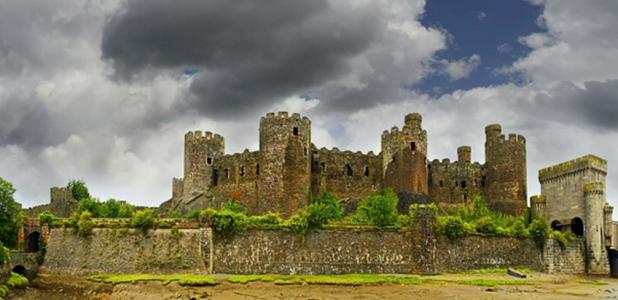 Conway Castle, a fine medieval castle in Wales. Source: Pecold / Adobe Stock