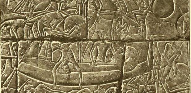 Egyptian relief of the invading Sea Peoples