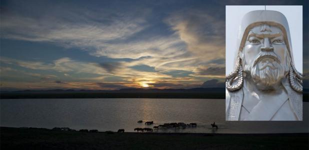 Mongolian horseman in Avraga, where Genghis Khan's winter camp ruins were found.           Source: sergelen1 / CC BY 2.0
