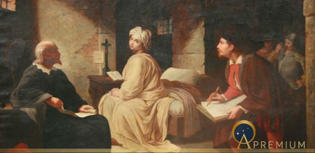 The Imprisonment of Beatrice Cenci by Achille Leonardi ( b: 1800 d. 1870) (Public Domain)