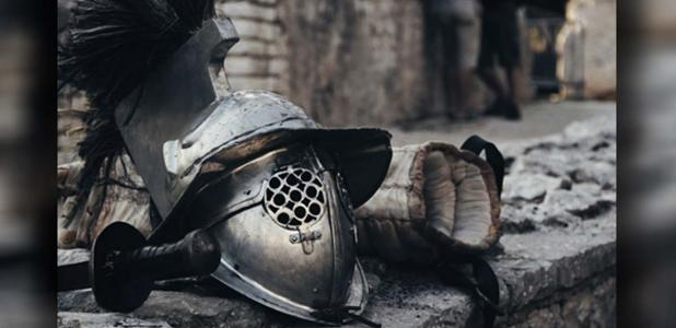 The helmet of a gladiator