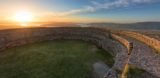 """Overlooking Inch Island from the """"Grainan of Aileach"""" ancient stone ring fort, Donegal, Ireland Gareth Wray"""