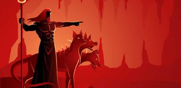 Hades, god of the underworld and Cerberus, his dog. (rudall30 / Adobe Stock)