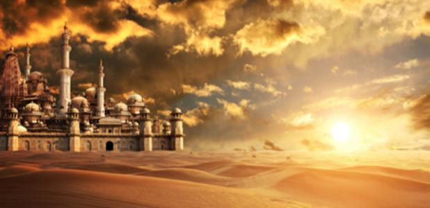 A lost desert city. Credit: frenta / Adobe Stock