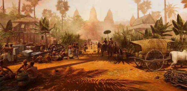 A team at Monash University created stunning computer graphics depicting daily life at Angkor Wat in the late 12th century, before the Khmer exodus.