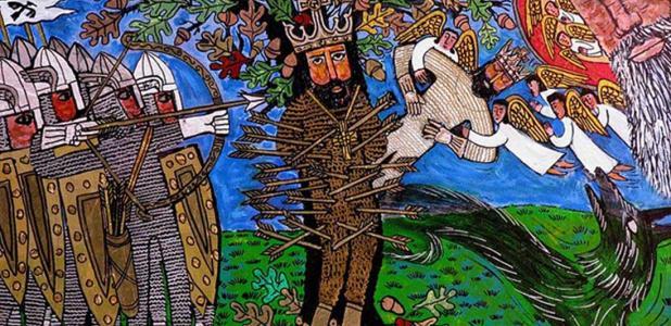 Martrydom of St Edmund.