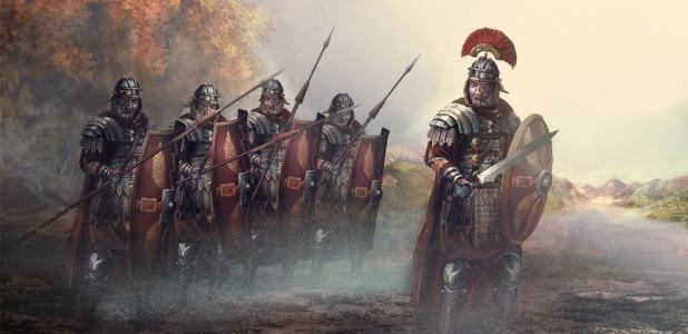Roman leader and his soldiers. Credit: vukkostic / Adobe Stock