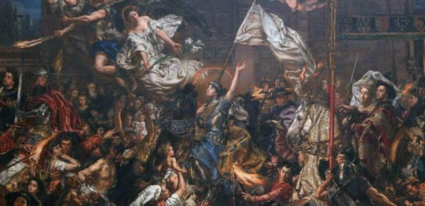 Detail of 'The Maid of Orléans' (1886) by Jan Matejko - Joan of Arc
