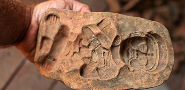 Mold used by the Maya to make figurines. Credit: Dr Brent Woodfill, Winthrop University.