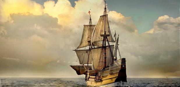 Mayflower II, a replica of the famous Mayflower ship
