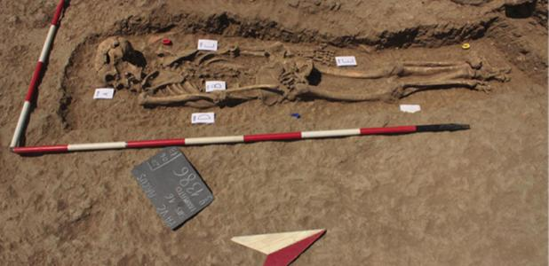 This deviant burial is a Medieval murder mystery.