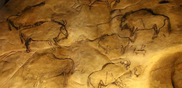 Rendering of bison in Niaux Cave      Source: Valette, C / CC BY ND 2.0