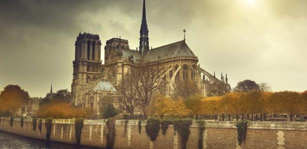 Notre Dame de Paris, a taller reconstruction of the original spire was made in the 1800s.