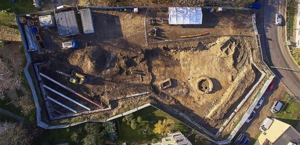 Aerial view of the construction site. Source: Dom Eko
