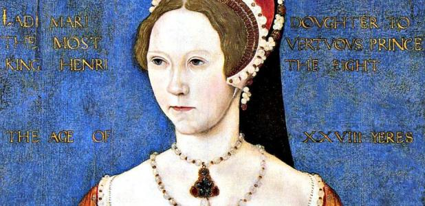 Portrait of Princess Mary Tudor, future Mary I of England. Master John, 1544.