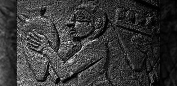 Detail of a man depicted on an Uruk vase, Pergamon Museum. The Uruk civilization arose as it expertly adapted to the new climate.