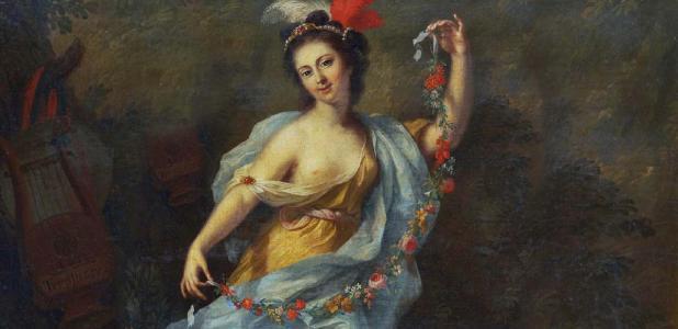 'The Nine Muses - Terpsichore (Dance) (1782) by Johann Heinrich Tischbein.