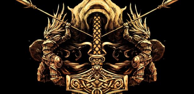 The ancient Norse symbol of Thor's Hammer.