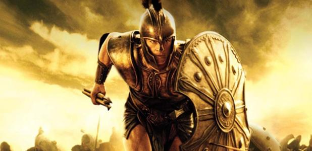 Scene from the movie, Troy, loosely based on Homer's Iliad. (Troy)