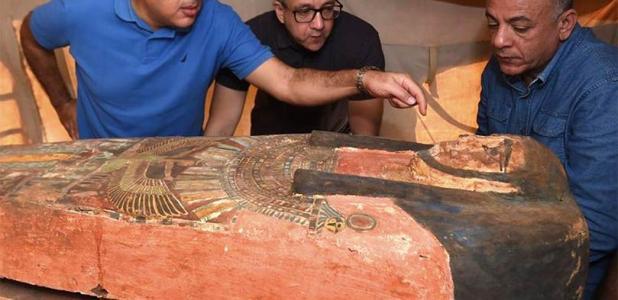 "Dozens Of ""New"" Ancient Egyptian Coffins Found Near Saqqara"