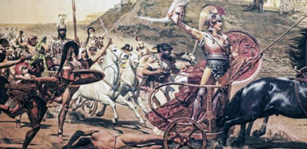 Fresco of the battle of Troy. Credit: quasarphotos / Adobe Stock