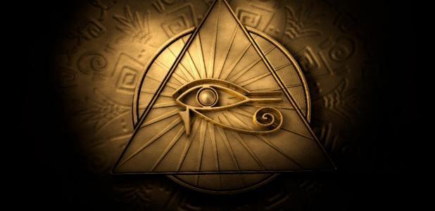 An Eye of Horus pendant