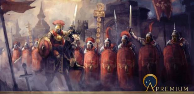Roman soldiers and their general by vukkostic (Adobe Stock)