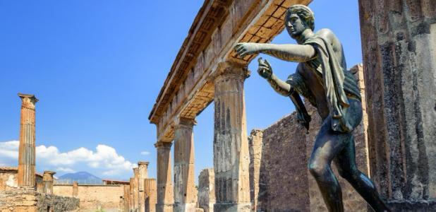 Evidence of a secret society lodge found in Pompeii. Here Apollo temple.        Source: Boris Stroujko / Adobe Stock
