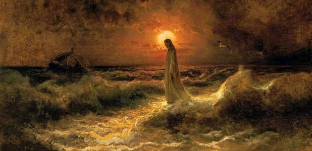 'Christ Walking on the water' (1880?) by Julius Sergius Von Klever.